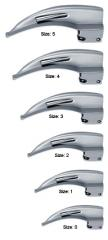 Fiber optic laryngoscope blades