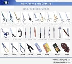 Beauty Manicure Pedicure items and Scissors of all