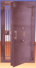 Strong room door with grill