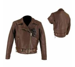 Brown Motorbike Leather Jacket