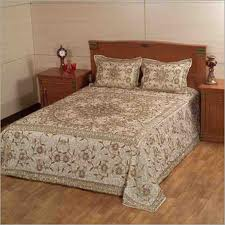 Golden Cotton Bed Cover
