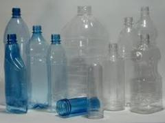 Bottles made of polyethylene