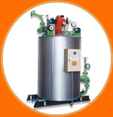 Fully automatic gas fired steam & hot water