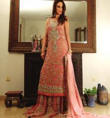 Pakistani Pink Bridal Dress
