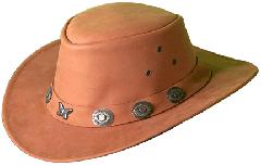 NUBUCK LEATHER HAT