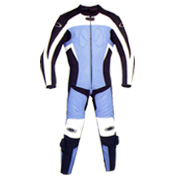 Blue moorbike suit