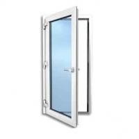 Hinged framed glass door