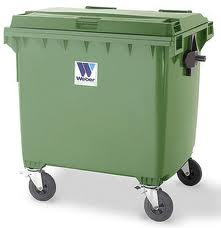 Two and four wheel waste container