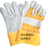 Grey Split Leather Working Gloves