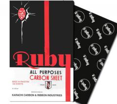 Ruby black carbon paper