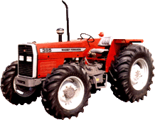 Tractor, MF 385 4wd (85hp)