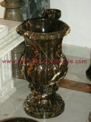 Black Marble Planter