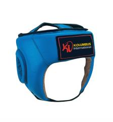 Blue Head guard in leather