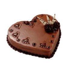 Heart shape chocolate cake 4lbs