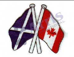 Two flag badge