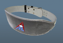 WEIGHT LIFTING LEATHER BELT.