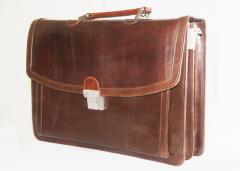 Leather suitcases
