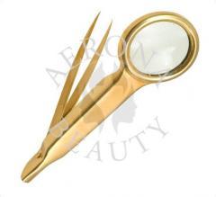 Cosmetic Gold Plated Tweezers-Aerona Beauty.