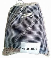 Mesh laundry bags with whitre stripes