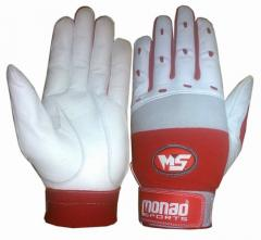 Red baseball batting gloves