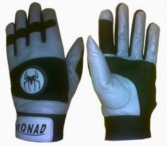 Green baseball gloves