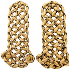 Golden shoulder straps