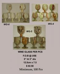 WINE  CUPS IN NATURAL STONE