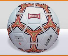 Leather training ball for soccer