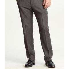 Tailored slim wool houndstooth suit pant