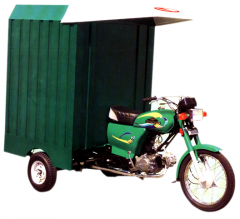 3-wheel motorcycle with loader cabin