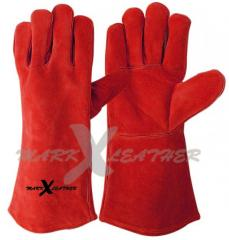 Top Grain Cowhide Leather Welding Gloves Fully