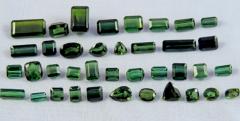 Green-blue Loose Tourmaline Gemstones