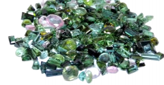 Green Blue Loose Tourmaline Gemstones