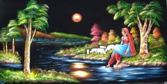 Velvet Art Paintings ( Hand Made Oil Painting on