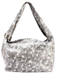 Eleanor Collection White Snake Printed Shoulder Bag (Size One Size)