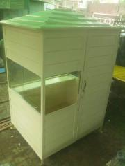 Fiberglass security guard cabin