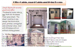 FRP or Fiberglass Office Cabin, Security guard Cabin, portable Toilet,