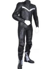 Motorbike rider leather suit