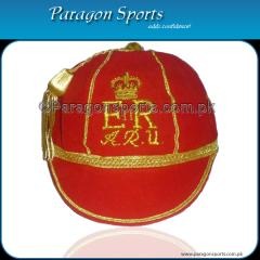 Hand Embroidered Honours Cap with Gold Braid