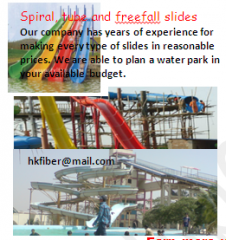 Fiberglass Spiral, tube and free-fall slides