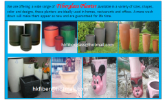 Dustbins and planter of fiberglass