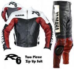 Yamaha R6 Red Black white leather dress