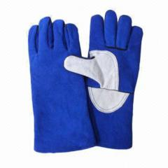Leather Welding Glove, Full Cotton Fabric Lining