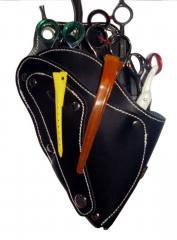 Scissor holster, shear holster, leather holster,