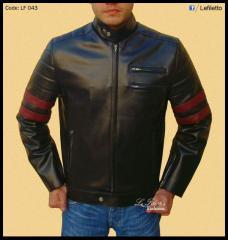 Leather Jacket Hybrid 1970's cafe racer style Retro leather jacket