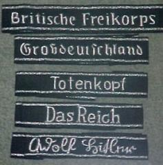 Hand Embroidery GERMAN SS Cuff Titles