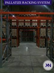 Adjustable pallet racks