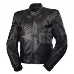Best Quality Black Leather Motorbike Jacket