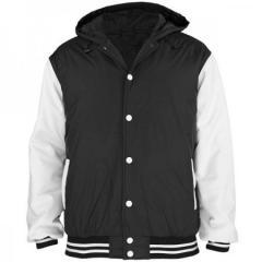 Hooded Satin Varsity Jackets