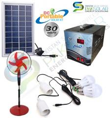 30W PORTABLE DC HOME SOLAR KIT POWER SYSTEM